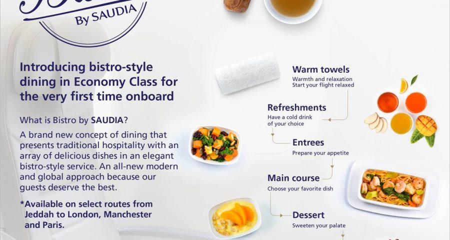 Saudia Airlines presenta Bistro by Saudia