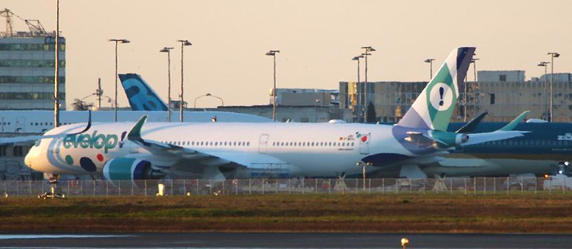 Evelop no volará por España con el A350 en ruta regular