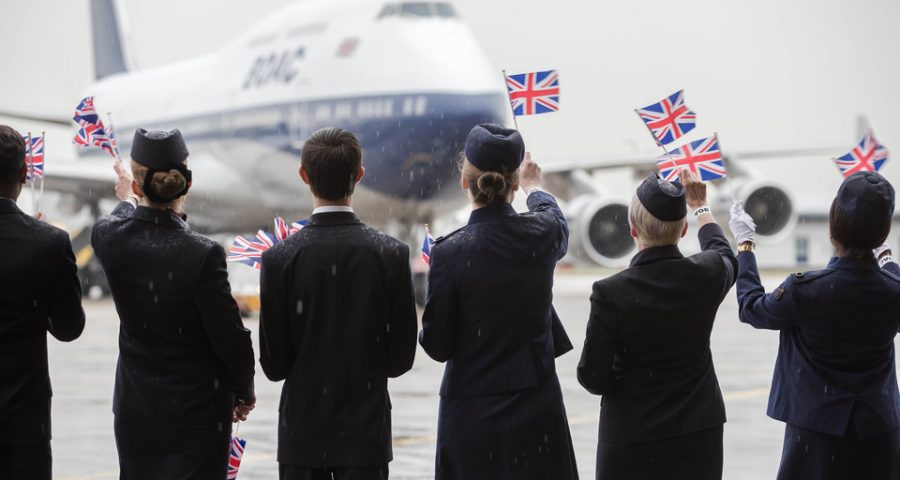 Recibiendo al 747 de BOAC
