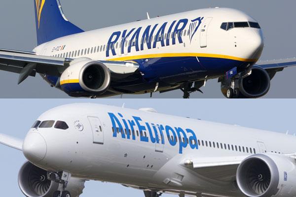 Ryanair y Air Europa rompen su alianza
