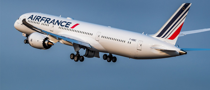 Air France con el 787 a Conakry